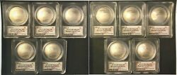 2014 10PC Silver $1 Baseball Hall of Fame Dream Team Coins - Signed