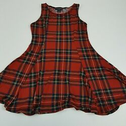 Women's Hot Topic See You Monday Size Medium Red Plaid Dress Cute Sexy School