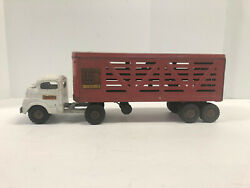 Structo Toys Cattle Farms Tractor And Trailer, Vintage 1950's