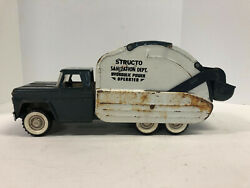 Structo Sanitation Dept. Hydraulic Power Operated Truck, Vintage 1960's