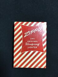 1958 Zippo Lighter Never Lit. Brand New. Cutler Clothes. Perfect Condition.andnbsp