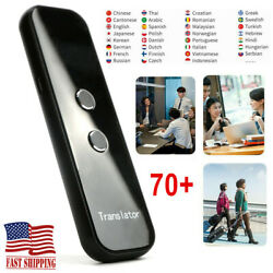 Portable Smart Two-way Real Time 70+ Multi-languages Translator Instant Voice Us