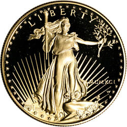 1991-w American Gold Eagle Proof 1 Oz 50 - Coin In Capsule