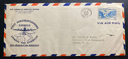 1940 Cristobal Canal Zone Panama First Substratosphere Flight Cover To Usa