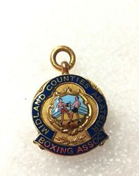 1938 Midland Counties Amateur Boxing Association Heavy Gold British Medal
