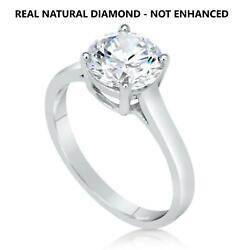 100 Natural Diamond Engagement Ring 18k White Gold 1/2 Ct D Vs2 Ideal Cut