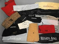 LOT OF DESIGNER STORAGE DUST COVERS NAME BRANDS PURSE HANDBAG 19 PIECES