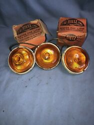Dietz 52 Vintage Truck Roof Cab Marker Turn Signal Lights With Glass Lenses