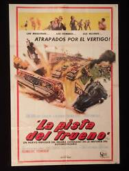 Track Of Thunder 1967 Racing Tommy Kirk Stricklyn Argentine 1sh Poster