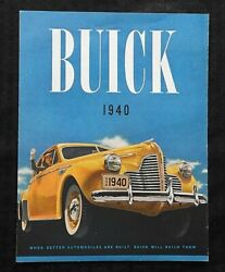 1940 Buick 50 Super And Special Model 91 Limited Sales Brochure Very Nice Shape