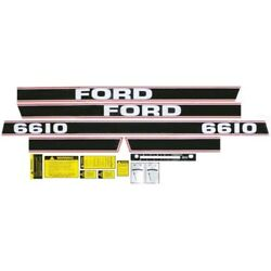 New Red / Black Complete Decal Set Fits Ford / Fits New Holland Tractor 6610