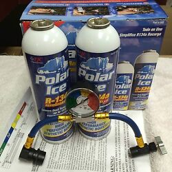R134a Recharge Kit 36oz. Synthetic Booster Additives And U-charge-it-hose Fjc
