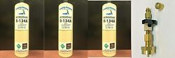 R134a R-134a Refrigerant Mobile A/c Coolers Freezers 3 20 Oz Cans Taper