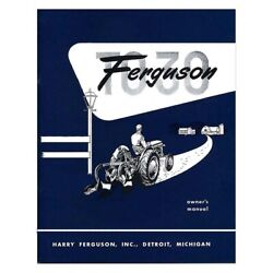 Owners Manual Fits Massey Ferguson Mf Tractor To30