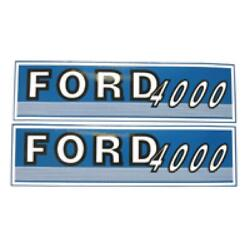 Fjub4000 New Hood Decal Set Fits Ford / Fits New Holland Tractor 4000