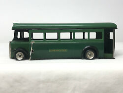 Minic Toys Green Line Bus, Vintage 1950's, Wind-up, Tin