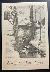 1940 Germany Buchenwald Concentration Kz Camp Christmas Xmas Postcard Cover 400