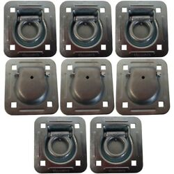8 Cargo Truck Container Quad Van Trailer Tie Down Anchor Point Recessed D-rings