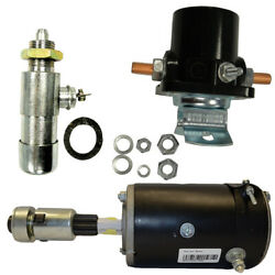 6v Starter Kit - Starter W/ Drive Solenoid Switch - Fits Ford 8n And 9n Tractors