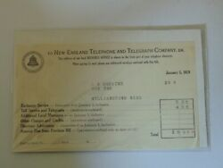 1929 Vintage Bill Of Lading Invoice New England Telephone And Telegraph Co