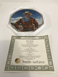 John Wayne The Duke Franklin Mint Collectible Plate Limited Edition