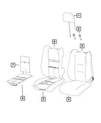 Genuine Mopar Front Seat Back Cover Right 5xu86lv5ab