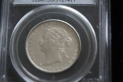 1870 Lcw Pcgs Graded Canadian Silver 50 Cent, Au-53