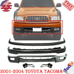 Front Bumper Primed Filler +valance And Brackets Lh + Rh For 2001-04 Toyota Tacoma