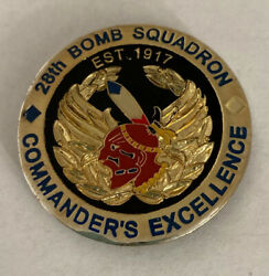 28th Bomb Squadron Usaf Commander's Coin Of Excellence R6