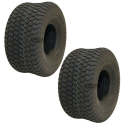 2 Turf Tires 20x10x8 Super Turf 4 Ply Tubeless For Lawn Mower Tractor 160-421