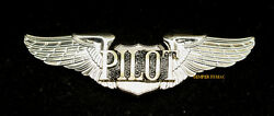 Pilot Wing Pin Up Private Solo Sport Full Size Gift Plane Jet Helicopter Script