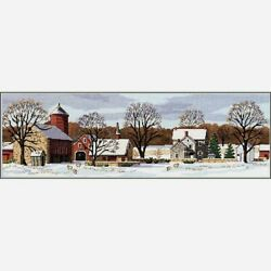 Dimensions Counted Cross Stitch Kit Scenic Farm 18 X 5.75 New 18 Count