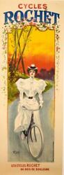 Cycles Rochet Of Paris By Tichon 1898 Rare Turn Of The Century Stone Litho