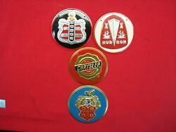 4 Vintage Wheaties Cereal Premiums - Auto Grill Badges/emblems - Very Nice