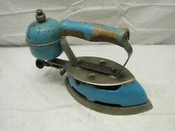 Early Coleman Lamp Stove Blue Enamel Gas Sad Iron Kitchen Tool Instant Lite 4a
