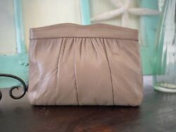 Purse or Clutch Vintage Leather Clutch or or Shoulder Purse in Mocha Leather $22.00