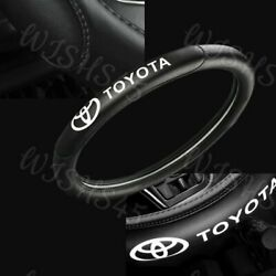 15quot; 38cm Car Steering Wheel Cover Quality Leather For Toyota New Black X1 $26.99