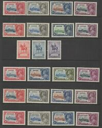 1935 Silver Jubilee 249 Mounted Mint Mh Stamps Not Including Egypt 1p