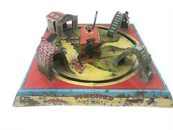 Louis Marx Pinched Tin Litho Table Top Toy Vintage 1920s