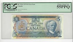 1979 Canada 5law/bou 33000186054 Bc-53at Pcgs Au-55 Ppq Test Note