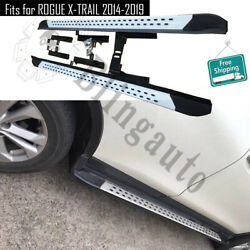 Side Steps Fits For Nissan Rogue X-trail 2014-2019 Running Board Nerf Bars Stair
