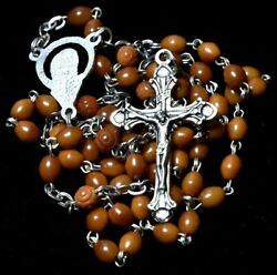 Vintage Sterling Rosary Beads Italy Butterscotch