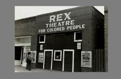 1939 Rex Colored Only Movie Theater Photo Black Negro Mississippi Segregation