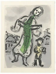 Marc Chagall Ou Est Le Jour 1968   From Les Poemes   Rare Woodcut   Gallart