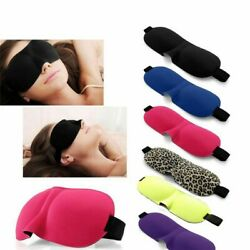 3D Colorful Eye Mask Travel Soft Padded Sleep Shade Cover Rest Blindfold USA
