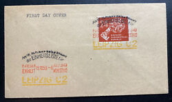 1950 Leipzig Ddr East Germany Cover Publicizing The Election Stamp Mi275