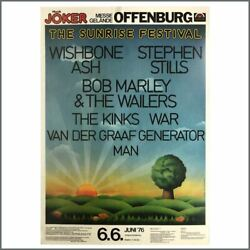 Bob Marley And The Wailers 1976 Sunrise Festival Offenburg Concert Poster Ger
