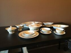 7 Peice Service For 8-10. 1940 Vintage China Set. Including Serving Platters, An