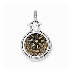 Coin Pendant .925 Sterling Silver And Bronze Charm Ancient Coins Widows Mite