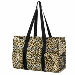 Women Lightweight All Purpose Utility Tote Carry Travel Bag Leopard Print $13.69